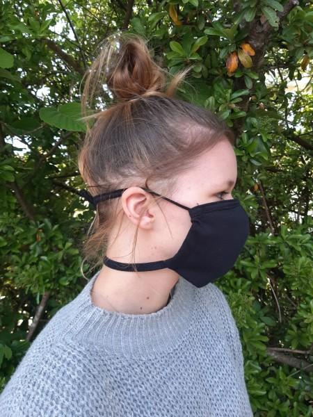 Mundschutz Schnauzenform Jersey mit Durchzugband