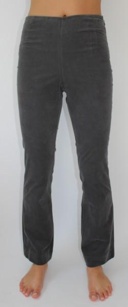 Consequent Bootcut-Hose 7/8-Länge Babycord grau