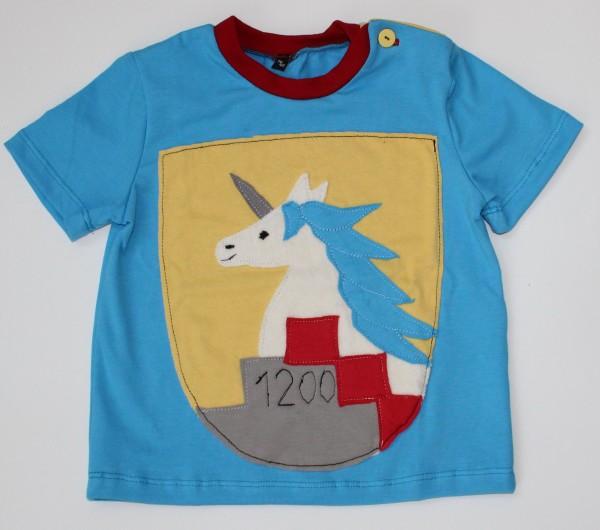 Wappen-T-Shirt Einhorn