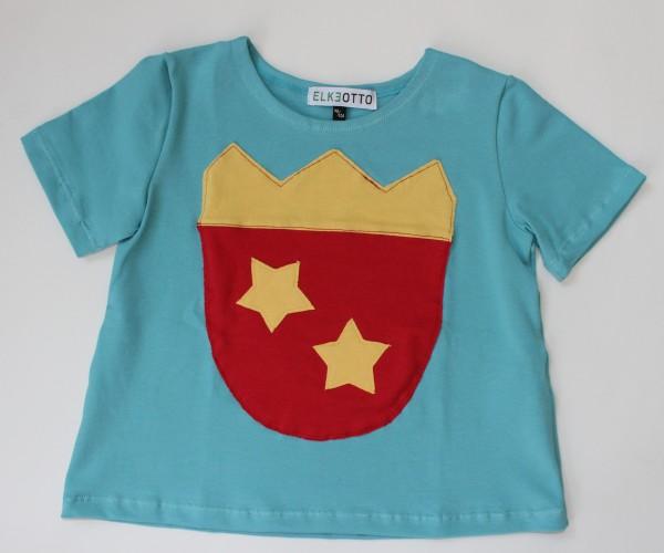 T-Shirt aus Biobaumwolle mi Ritter- Wappen