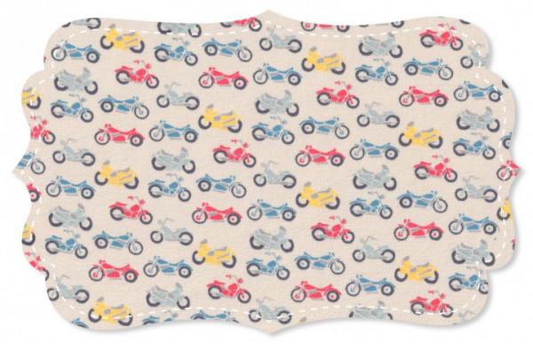 C. Pauli Single Jersey mit Motorräder-Druck aus 95 % Bio-Baumwolle/5% Elastan
