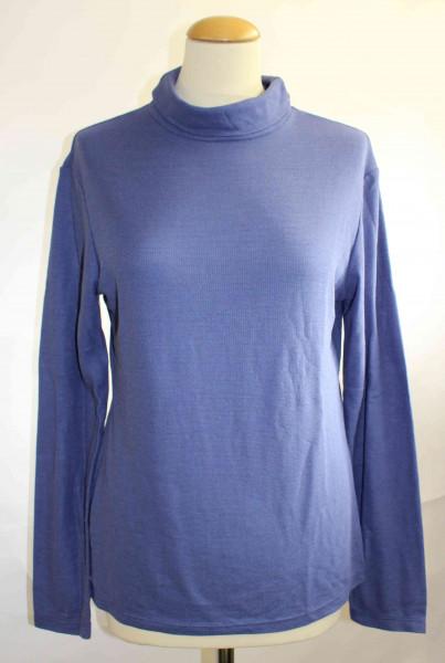 Elke Otto Langarmshirt mit Stehkragen aus Seide mit Wolle fair und nachhaltig in Deutschland hergestellt